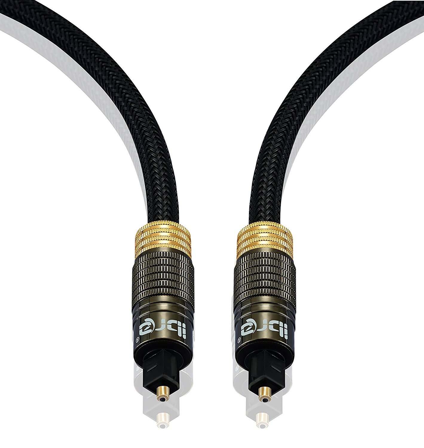 IBRA Muzil Gold 2M - Digital Optical Cable | Toslink / Audio Cable | Fibre Optic Cable | Suitable for PS3, Sky, Sky HD, LCD, LED, Plasma, Blu-ray, AV Amps