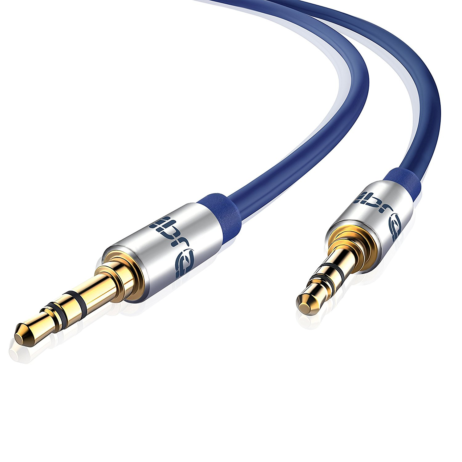 Aux Cable 5M 3.5mm Stereo Pro Auxiliary Audio Cable - for Beats Headphones Apple iPod iPhone iPad Samsung LG Smartphone MP3 Player Home / Car etc - IBRA Blue