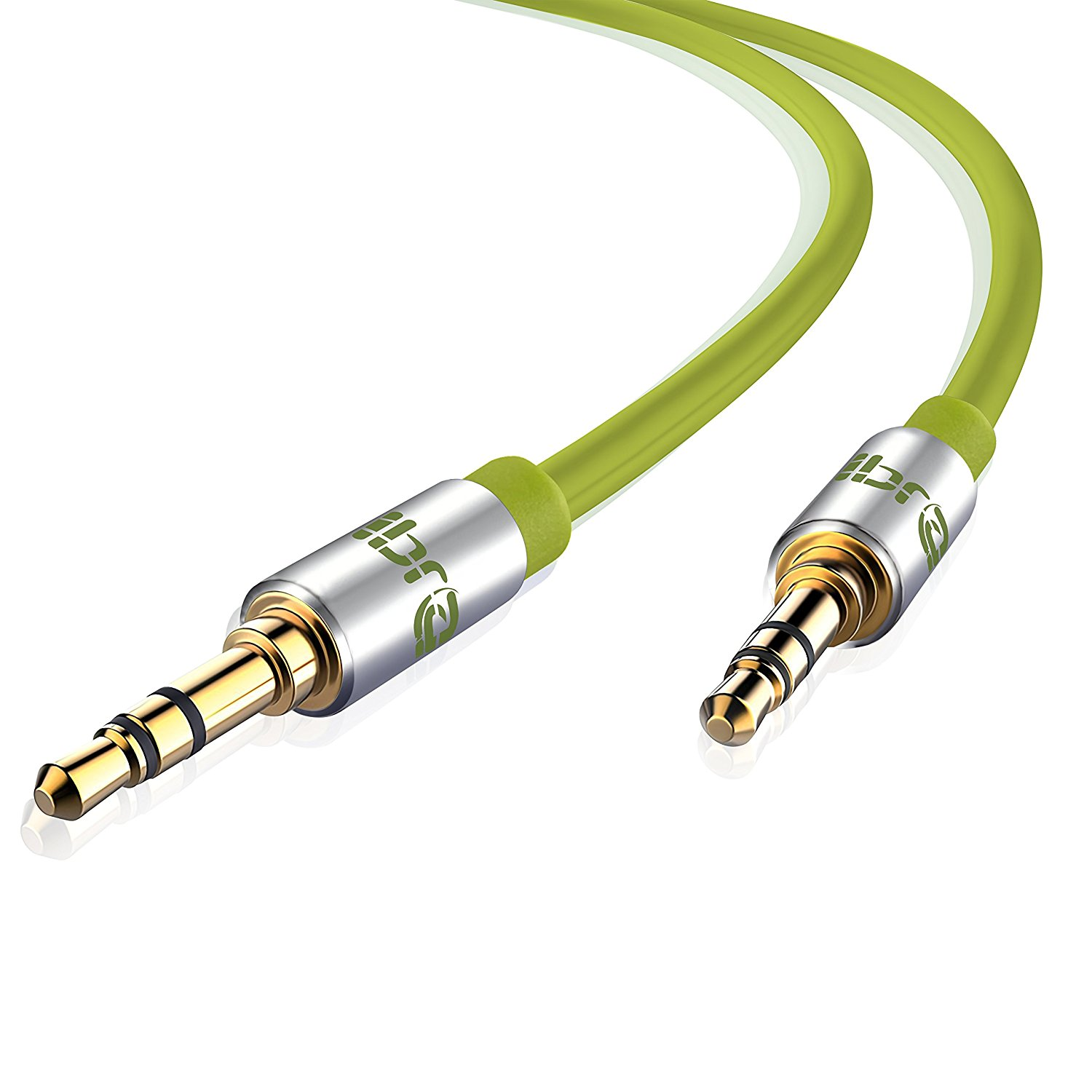 Aux Cable 5M 3.5mm Stereo Pro Auxiliary Audio Cable - for Beats Headphones Apple iPod iPhone iPad Samsung LG Smartphone MP3 Player Home / Car etc - IBRA Green