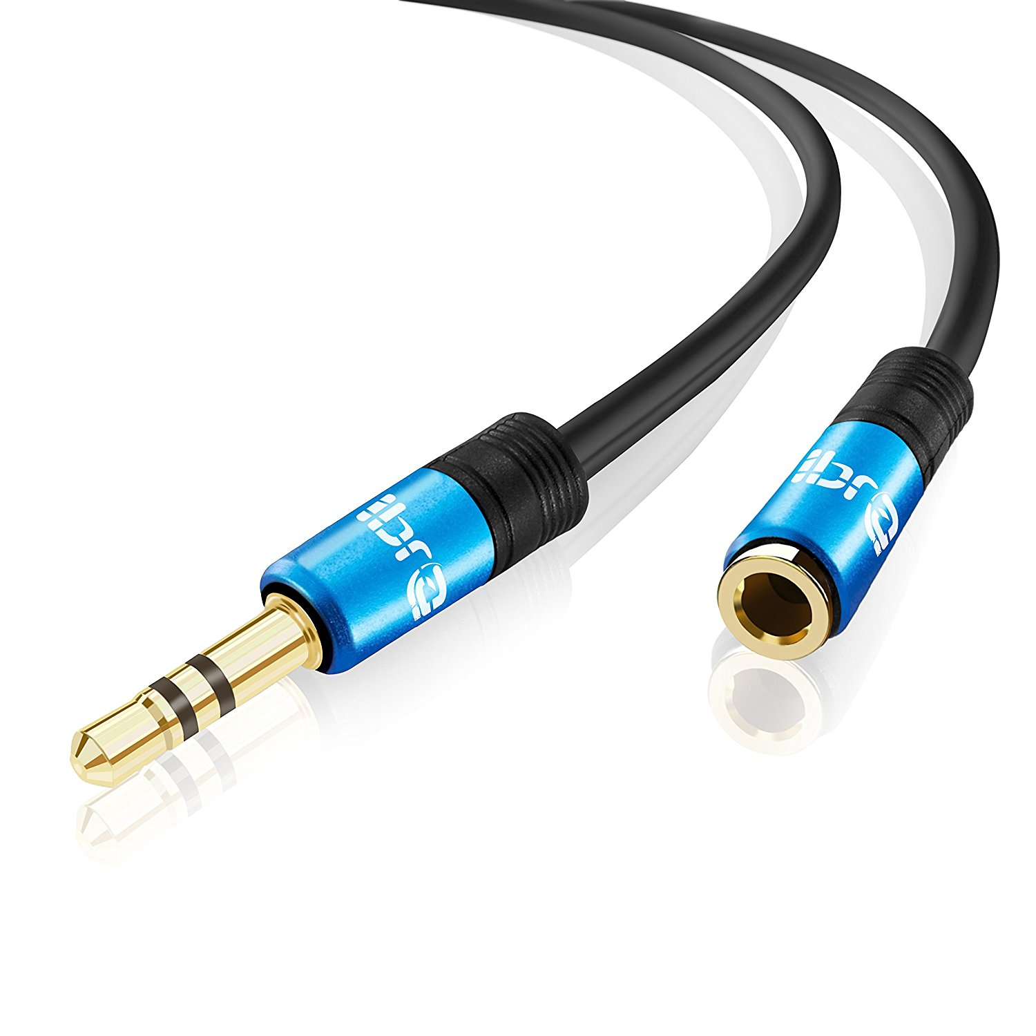 IBRA 1M Stereo Jack Extension Cable 3.5mm Male > 3.5mm Female - Blue