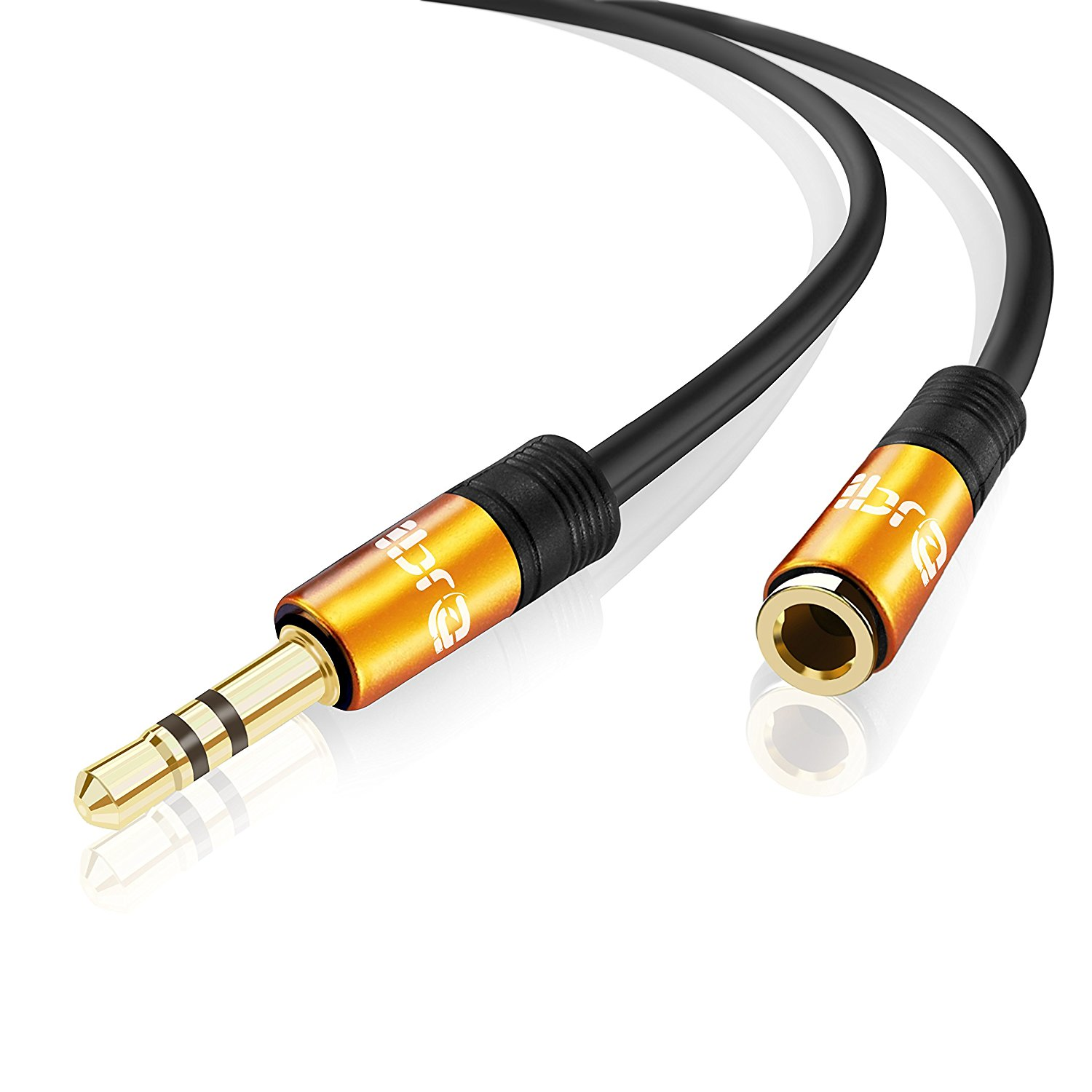 IBRA 1M Stereo Jack Extension Cable 3.5mm Male > 3.5mm Female - Orange