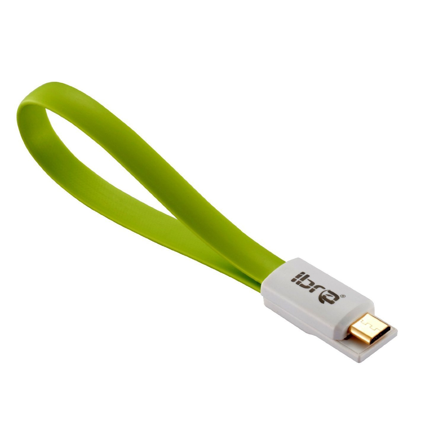 IBRA 0.2M Magnet Short and Compact Micro USB Charging/Sync Data Cable for for Samsung Galaxy S4 i9500 i9300 N7100 Nokia HTC Sony Xperia Series and all Mobilephones/Tablets/Cameras/Sat Nav -7.5Inch - Green