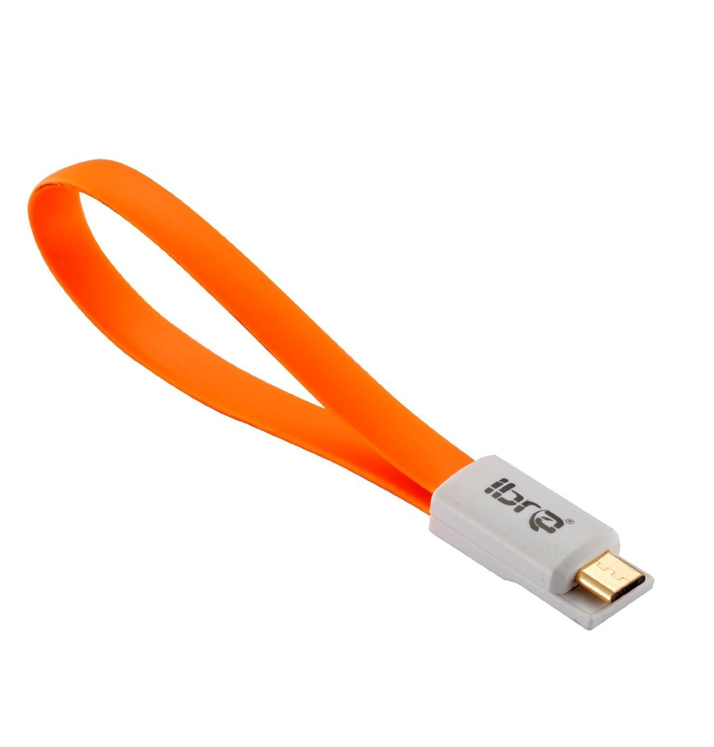 IBRA 0.2M Magnet Short and Compact Micro USB Charging/Sync Data Cable for for Samsung Galaxy S4 i9500 i9300 N7100 Nokia HTC Sony Xperia Series and all Mobilephones/Tablets/Cameras/Sat Nav -7.5Inch - Orange